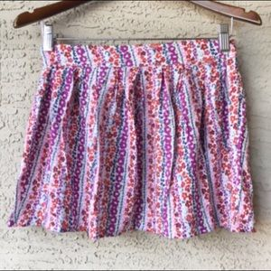 Frenchi Full Floral Micro Mini Skirt